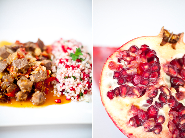 Greedy Gourmand: Lamb & date tagine with pomegranate couscous