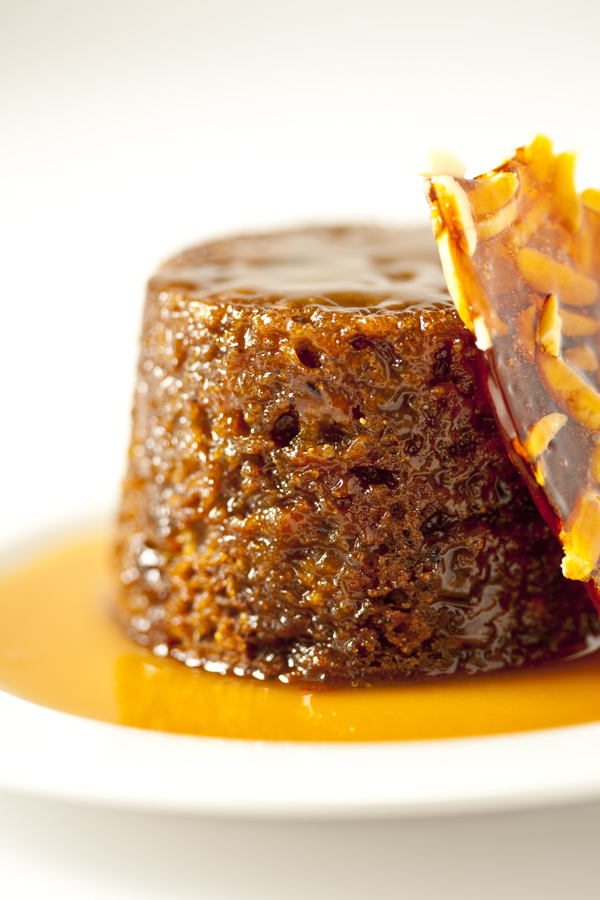 ... Gourmand: Sticky date pudding with butterscotch sauce & almond praline
